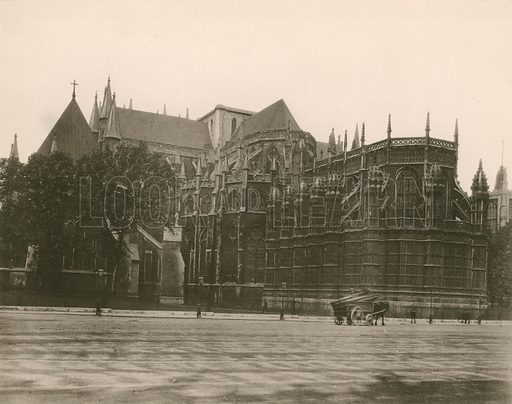 The Abbey from the South-East. Twenty-Four Gems of Westminster Abbey (The Graphotone, c 1890).