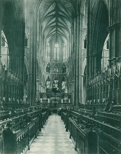 The Choir, looking East. Twenty-Four Gems of Westminster Abbey (The Graphotone, c 1890).