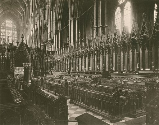 The Choir Stalls. Twenty-Four Gems of Westminster Abbey (The Graphotone, c 1890).