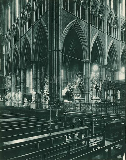 Transept, looking North-East. Twenty-Four Gems of Westminster Abbey (The Graphotone, c 1890).
