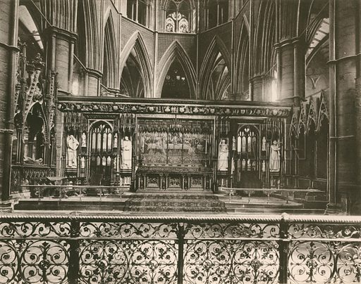 The Reredos and Sanctuary. Twenty-Four Gems of Westminster Abbey (The Graphotone, c 1890).