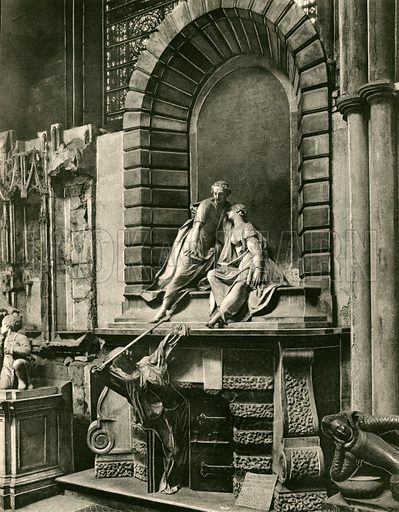 The Nightingale Tomb. Twenty-Four Gems of Westminster Abbey (The Graphotone, c 1890).