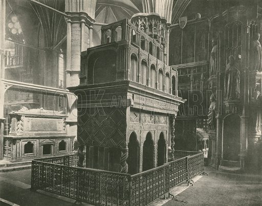 The Confessor's Chapel, Tomb of Henry III. Twenty-Four Gems of Westminster Abbey (The Graphotone, c 1890).
