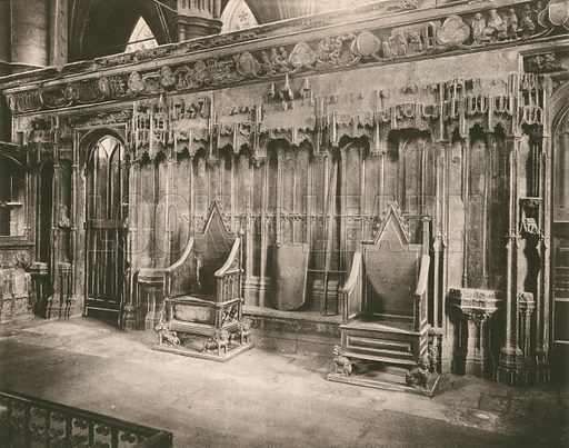 The Coronation Chairs. Twenty-Four Gems of Westminster Abbey (The Graphotone, c 1890).