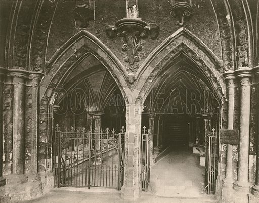 Entrance to Chapter House. Twenty-Four Gems of Westminster Abbey (The Graphotone, c 1890).