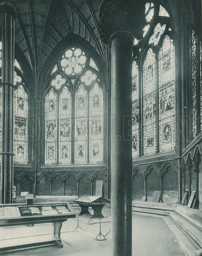 Chapter House, Interior. Twenty-Four Gems of Westminster Abbey (The Graphotone, c 1890).