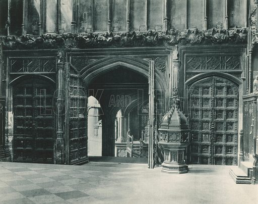 Henry VII Chapel: Entrance and Font. Twenty-Four Gems of Westminster Abbey (The Graphotone, c 1890).