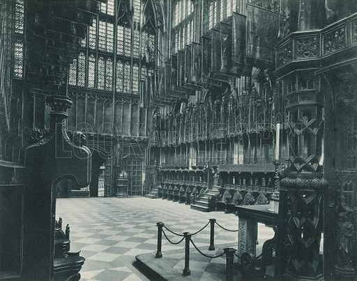 Henry VII Chapel: The Nave and Choir Stalls. Twenty-Four Gems of Westminster Abbey (The Graphotone, c 1890).
