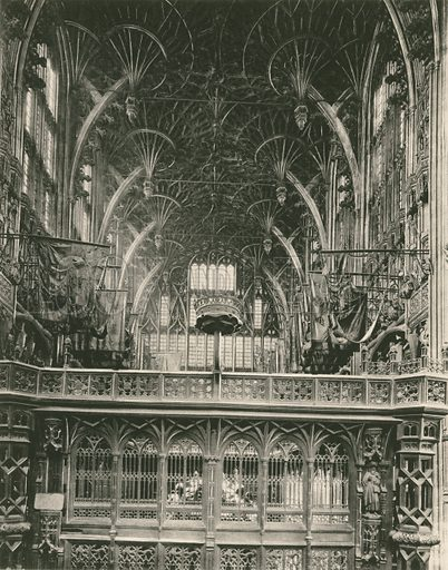 Henry VII Chapel: The Screen and Roof. Twenty-Four Gems of Westminster Abbey (The Graphotone, c 1890).