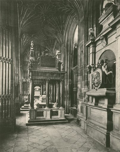 Henry VII Chapel: Tomb of Queen Elizabeth. Twenty-Four Gems of Westminster Abbey (The Graphotone, c 1890).