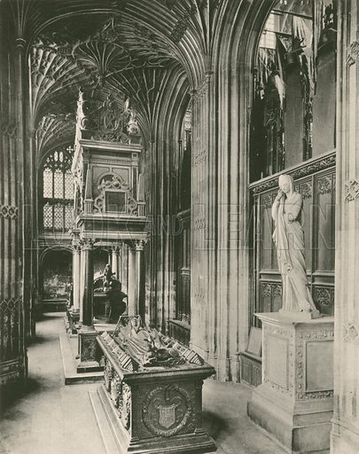 Henry VII Chapel: Tomb of Mary Queen of Scots. Twenty-Four Gems of Westminster Abbey (The Graphotone, c 1890).