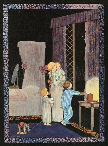 Twinkle Twinkle Little Star. Illustration for Nursery Rhymes and Proverbs (Hollis & Carter, c 1920).