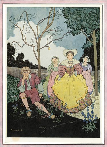 The Nut Tree. Illustration for Nursery Rhymes and Proverbs (Hollis & Carter, c 1920).