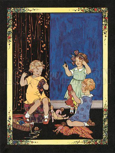 Cobbler, Cobbler. Illustration for Nursery Rhymes and Proverbs (Hollis & Carter, c 1920).