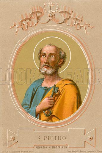 S Pietro. Illustration in Romani Pontefici by Luigi Tripepi (Roma, 1879).