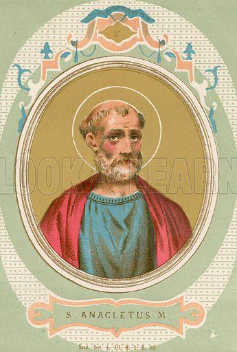 S Anacletus M Illustration in Romani Pontefici by Luigi Tripepi (Roma, 1879).