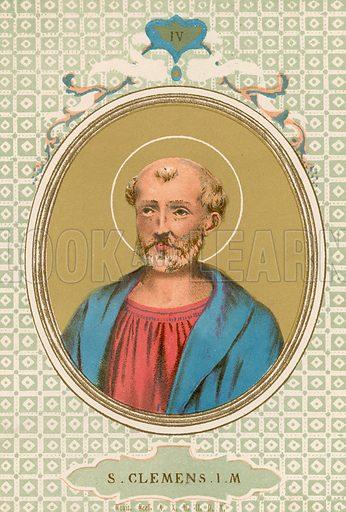 S Clemens IM Illustration in Romani Pontefici by Luigi Tripepi (Roma, 1879).