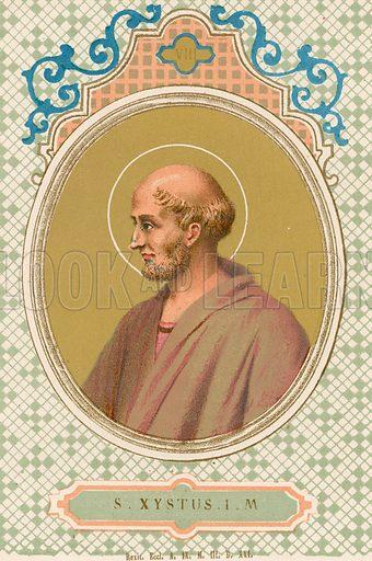 S Xystus IM Illustration in Romani Pontefici by Luigi Tripepi (Roma, 1879).