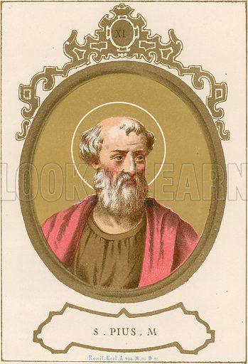 S Pius M Illustration in Romani Pontefici by Luigi Tripepi (Roma, 1879).