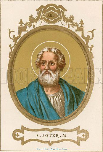 S Soter M Illustration in Romani Pontefici by Luigi Tripepi (Roma, 1879).