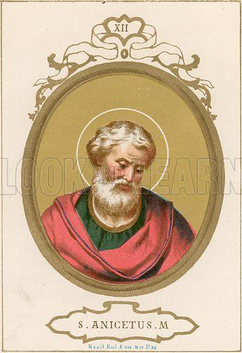 S Anicetus M Illustration in Romani Pontefici by Luigi Tripepi (Roma, 1879).