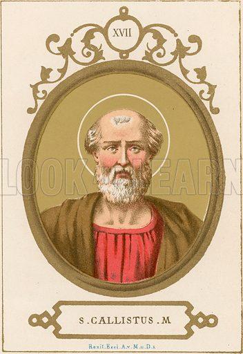 S Callistus M Illustration in Romani Pontefici by Luigi Tripepi (Roma, 1879).