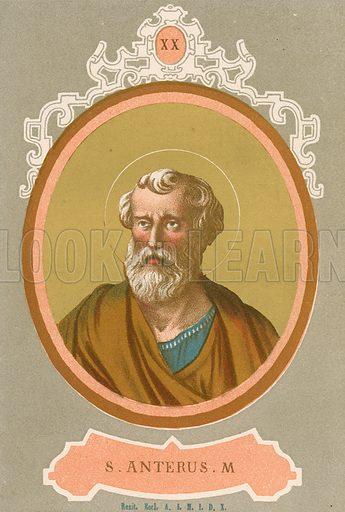 S Anterus M Illustration in Romani Pontefici by Luigi Tripepi (Roma, 1879).