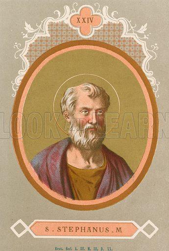 S Stephanus M Illustration in Romani Pontefici by Luigi Tripepi (Roma, 1879).