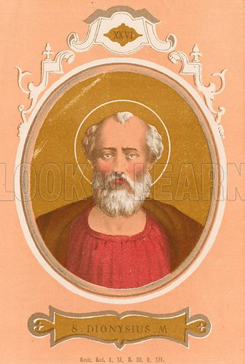 S Dionysius M Illustration in Romani Pontefici by Luigi Tripepi (Roma, 1879).