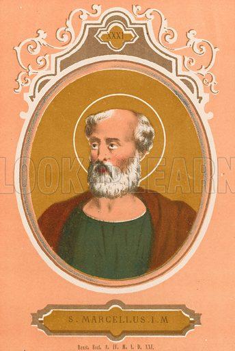 S Marcellus IM Illustration in Romani Pontefici by Luigi Tripepi (Roma, 1879).