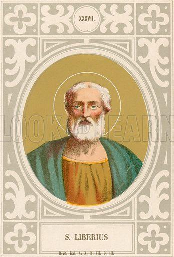 S Liberius. Illustration in Romani Pontefici by Luigi Tripepi (Roma, 1879).