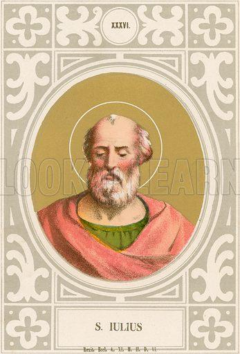 S Iulius. Illustration in Romani Pontefici by Luigi Tripepi (Roma, 1879).