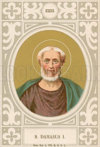 S Damasus I. Illustration in Romani Pontefici by Luigi Tripepi (Roma, 1879).