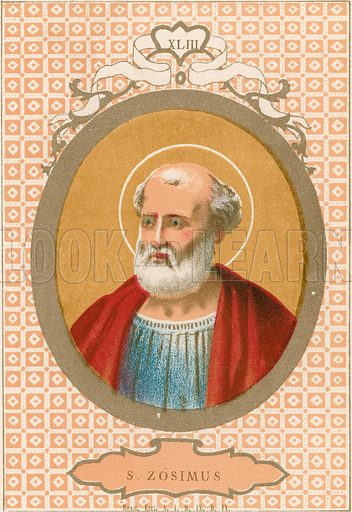 S Zosimus. Illustration in Romani Pontefici by Luigi Tripepi (Roma, 1879).