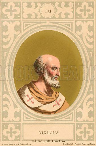 Vigilius. Illustration in Romani Pontefici by Luigi Tripepi (Roma, 1879).