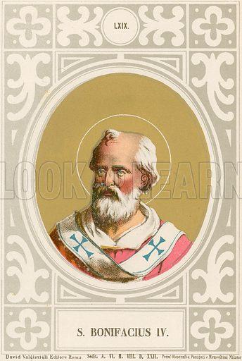 S Bonifacius IV. Illustration in Romani Pontefici by Luigi Tripepi (Roma, 1879).