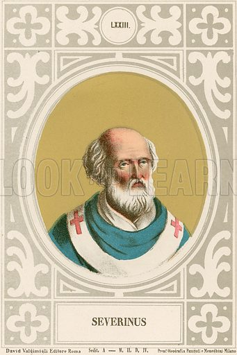 Severinus. Illustration in Romani Pontefici by Luigi Tripepi (Roma, 1879).