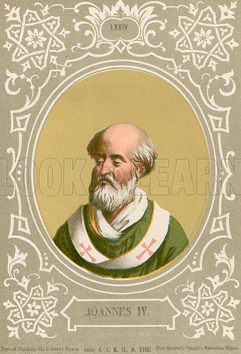 Joannes IV. Illustration in Romani Pontefici by Luigi Tripepi (Roma, 1879).