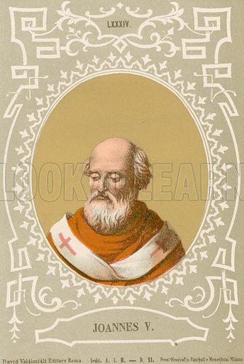 Joannes V. Illustration in Romani Pontefici by Luigi Tripepi (Roma, 1879).