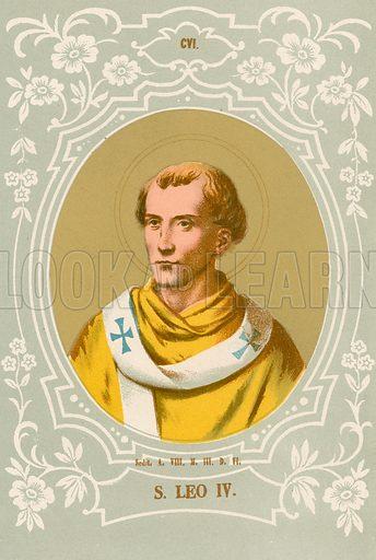 S Leo IV. Illustration in Romani Pontefici by Luigi Tripepi (Roma, 1879).