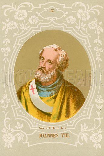 Joannes VIII. Illustration in Romani Pontefici by Luigi Tripepi (Roma, 1879).