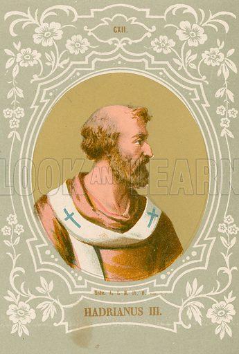 Hadrianus III. Illustration in Romani Pontefici by Luigi Tripepi (Roma, 1879).