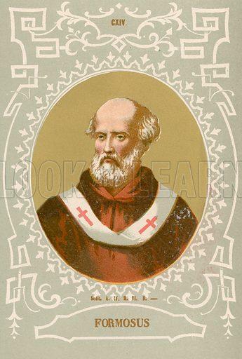 Formosus. Illustration in Romani Pontefici by Luigi Tripepi (Roma, 1879).