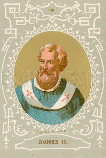 Joannes IX. Illustration in Romani Pontefici by Luigi Tripepi (Roma, 1879).