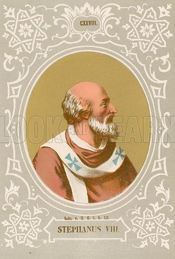Stephanus VIII. Illustration in Romani Pontefici by Luigi Tripepi (Roma, 1879).