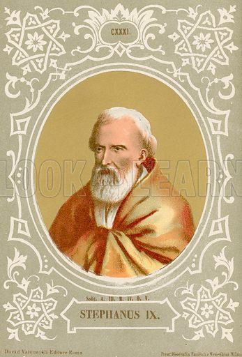 Stephanus IX. Illustration in Romani Pontefici by Luigi Tripepi (Roma, 1879).