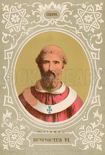 Benedictus VI. Illustration in Romani Pontefici by Luigi Tripepi (Roma, 1879).