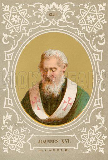 Joannes XVI. Illustration in Romani Pontefici by Luigi Tripepi (Roma, 1879).