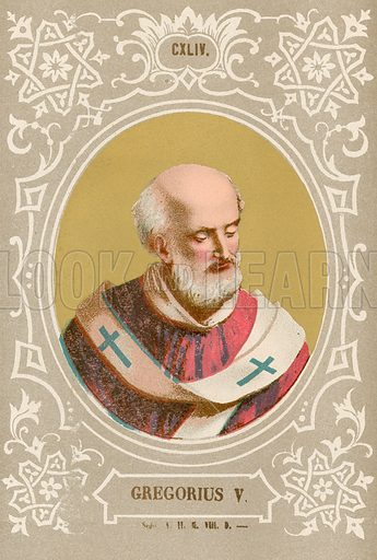 Gregorius V. Illustration in Romani Pontefici by Luigi Tripepi (Roma, 1879).