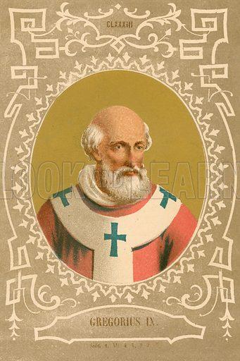 Gregorius IX. Illustration in Romani Pontefici by Luigi Tripepi (Roma, 1879).